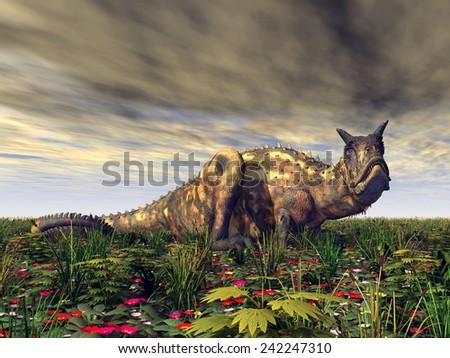Dinosaur Carnotaurus Computer generated 3D illustration - stock photo