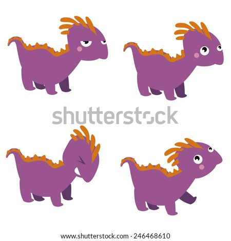 Dinosaur characters set - stock photo