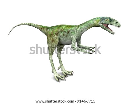 Dinosaur Compsognathus Computer generated 3D illustration