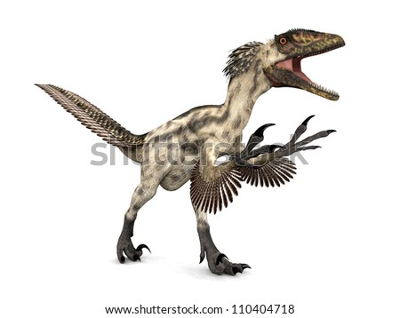 Dinosaur Deinonychus Computer generated 3D illustration - stock photo