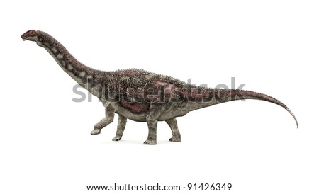 Dinosaur Diamantinasaurus Computer generated 3D illustration - stock photo