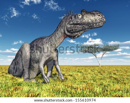 Dinosaur Megalosaurus Computer generated 3D illustration