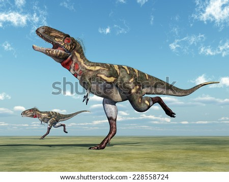 Dinosaur Nanotyrannus Computer generated 3D illustration