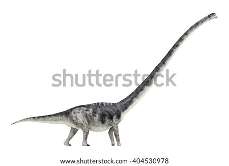 Dinosaur Omeisaurus isolated on white background Computer generated 3D illustration