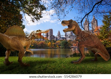 dinosaur scene two dinosaurs fighting stock photo edit now