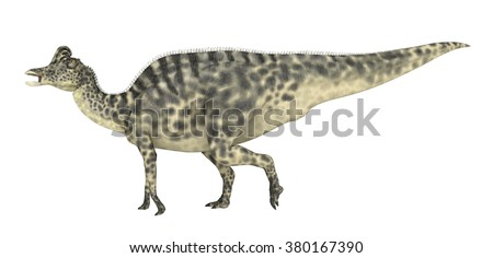 Dinosaur Velafrons isolated on white background Computer generated 3D illustration - stock photo
