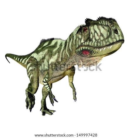 Dinosaur Yangchuanosaurus Computer generated 3D illustration - stock photo