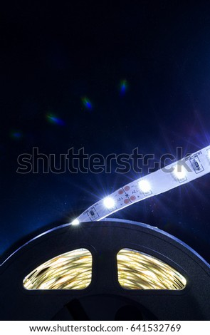 Diode strip led lights tape closeup stock photo royalty free diode strip led lights tape close up aloadofball Image collections