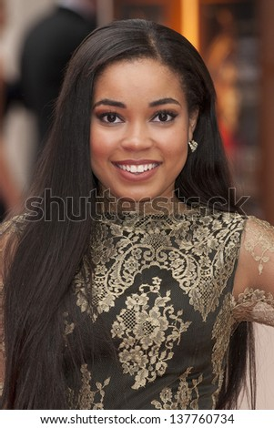 Dionne Bromfield arriving for the Laurence Olivier Awards 2013 at the Royal Opera House, Covent Garden, London. 28/04/2013