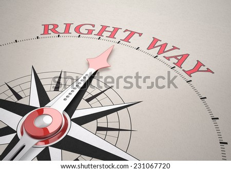 Direction of Right way , Compass concept, 3d render - stock photo