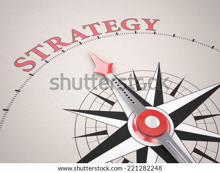 Direction of Strategy , 3d render - stock photo