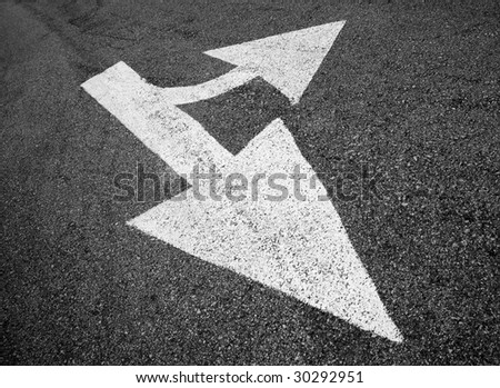 direction on road - stock photo