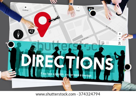 Direction Sign Forward Movement Perspective Way Concept - stock photo