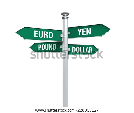 Direction Sign of  Currency