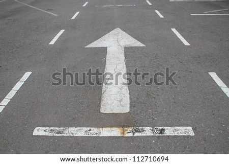 Direction sign on road. - stock photo