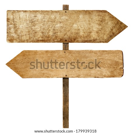 Direction: Wooden Arrow Signs