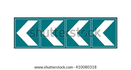 directional arrow sign to right - stock photo