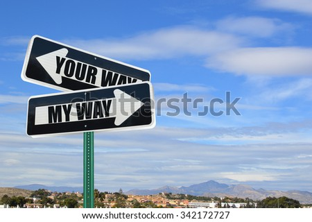 Directional Arrow Traffic Street Signs (My Way, Your Way)