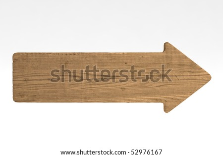 Directional sign made of old wood