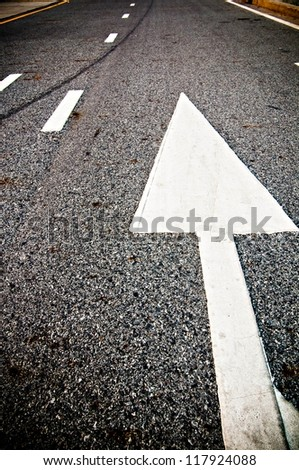 directional street sign - stock photo
