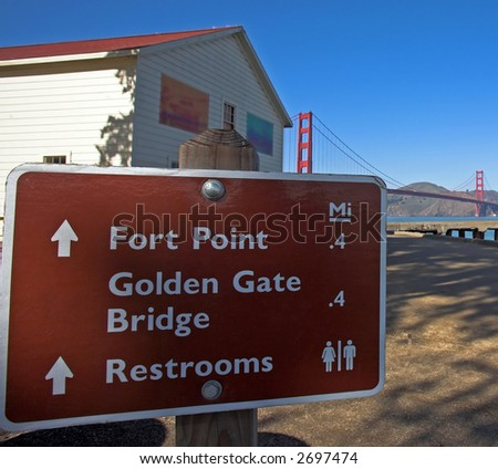 Directions To Golden Gate Bridge - stock photo