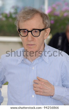 Director/actor WOODY ALLEN at the photo call in Cannes for his new movie Hollywood Ending which is opening the 2002 Cannes Film Festival. 15MAY2002   Paul Smith / Featureflash - stock photo