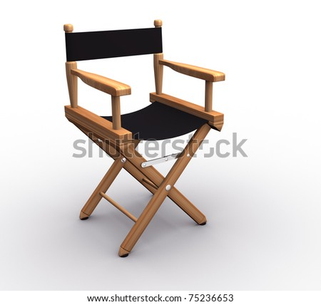 Director chair on white - this is a 3d render illustratrion