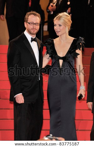 "Director James Gray (left) & Gwyneth Paltrow at the premiere of ""Two Lovers"" at the 61st Annual International Film Festival de Cannes. May 19, 2008  Cannes, France. Picture: Paul Smith / Featureflash"