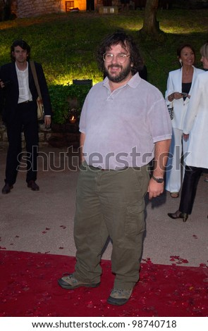 Director PETER JACKSON at party in Cannes to promote his new movie The Lord of the Rings. The party was held in the medieval Chateau de Castellaras in Mougins. 13MAY2001.   Paul Smith/Featureflash