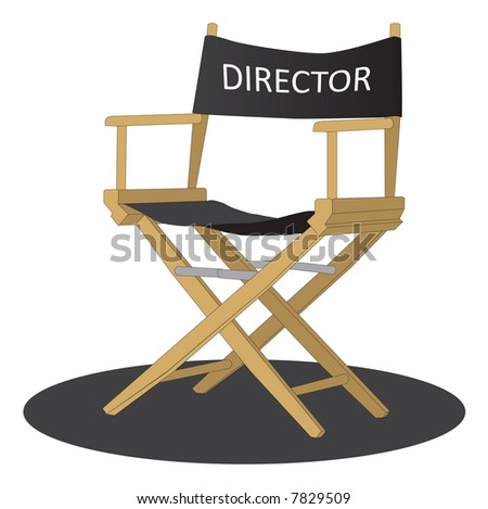Director's chair over white background