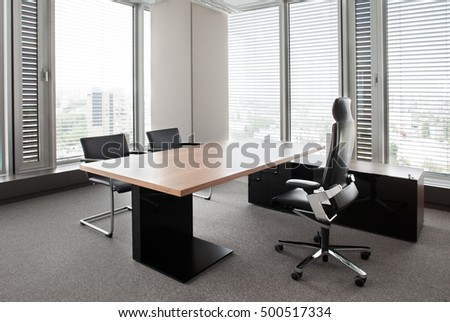 Director's office. Corporate office environment.