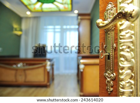 director's place in the Empire style. - stock photo