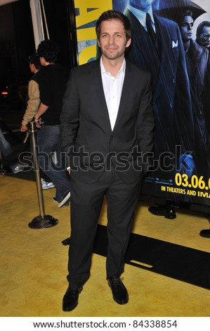 "Director Zack Snyder at the US premiere of his new movie ""Watchmen"" at Grauman's Chinese Theatre, Hollywood. March 2, 2009  Los Angeles, CA Picture: Paul Smith / Featureflash"