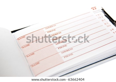directory isolated on white background