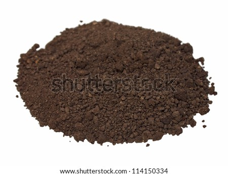dirt isolated on white background - stock photo