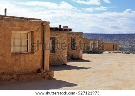 Pueblos stock photos royalty free images vectors for Rustic home albuquerque
