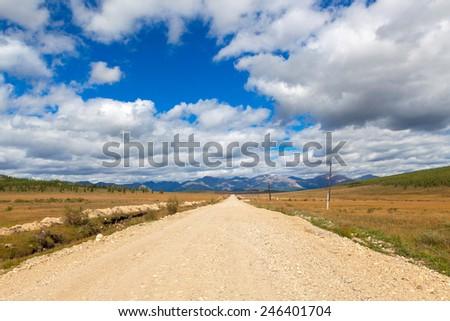 dirt road - stock photo