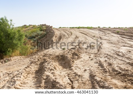dirt road in the desert