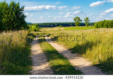 dirt road in the field