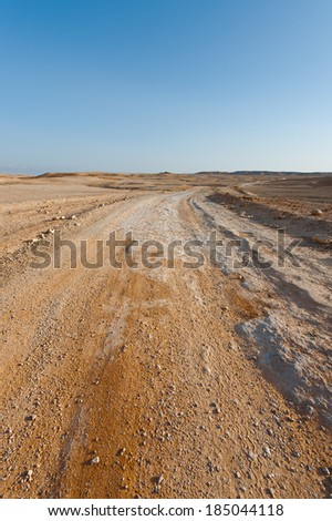 Dirt  Road in the Judean Desert on the West Bank