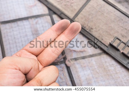dirty air conditioner filter and dirty finger