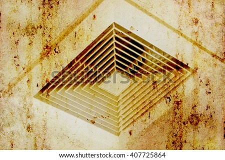 Dirty Air Duct, Danger and the cause of pneumonia in office man. - stock photo