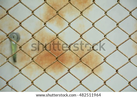 dirty and rust metal net background