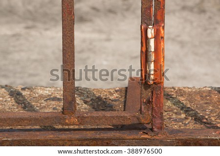 dirty and rusty steel on stone - stock photo