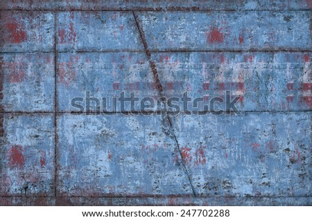 Dirty and Weathered Metal Texture with Seams (Part of Grungy Textures with Rusty Seams set, which includes textures that can be used together to create a huge image) - stock photo