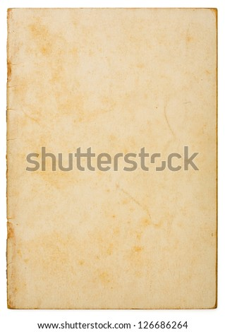 Dirty and weathered old paper texture background - stock photo