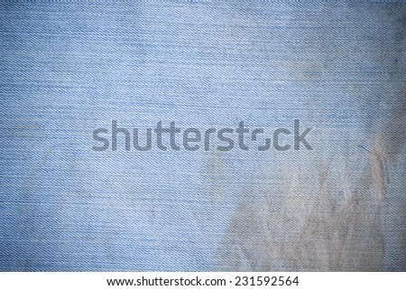dirty blue jeans fabric - stock photo