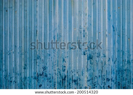 Dirty Blue Wave Metal Sheet Background/ Texture.