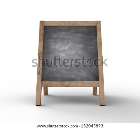 dirty chalkboard on white background
