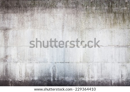 Dirty concrete wall - stock photo